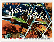 1950s Poster Art Framed Prints - The War Of The Worlds, 1953 Framed Print by Everett