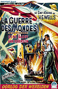 1950s Poster Art Framed Prints - The War Of The Worlds Aka La Guerre Des Framed Print by Everett