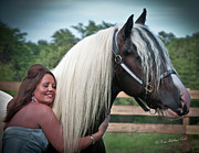 Best Friend Photos - The Warm Embrace by Terry Kirkland Cook