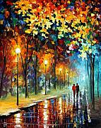 Afremov Art - The Warmth Of Friends by Leonid Afremov