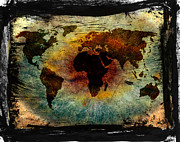 Eyes Framed Prints Prints - The Warning Worlds  Print by Jerry Cordeiro