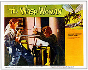 1950s Poster Art Framed Prints - The Wasp Woman, From Left Anthony Framed Print by Everett