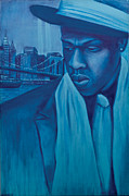 Jay Z Painting Prints - The Watcher Print by Derek Donnelly