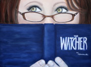 Book Pastels Prints - The Watcher Print by Tracey Hunnewell