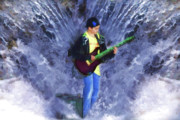 Guitar Digital Art - The Water Gig by Cathy  Beharriell