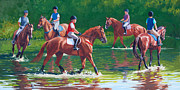 Trotting Paintings - The Water Lesson by Terri Miller