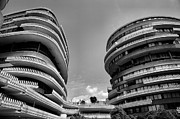 Monotone Prints - The Watergate Hotel II Print by Steven Ainsworth