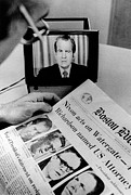 Headlines Prints - The Watergate Scandal Takes Print by Everett