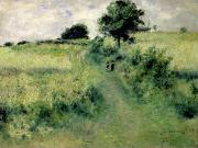 Crops Paintings - The Watering Place by Renoir