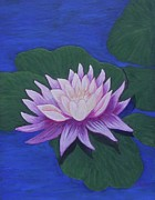 Anke Wheeler Paintings - The Waterlily by Anke Wheeler
