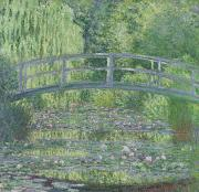 Willow Tree Posters - The Waterlily Pond Poster by Claude Monet