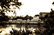 Philadelphia Museum Of Art Prints - The Waterworks in Sepia Print by Bill Cannon