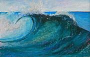 Wave Pastels - The Wave by Helen Hammerman