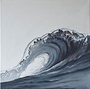 Jan Farthing Acrylic Prints - The wave Acrylic Print by Jan Farthing