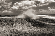 Monotone Prints - The Wave Print by Jeff Breiman