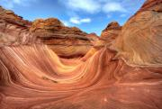 Sandstone Canyons Photos - The Wave One by Paul Basile