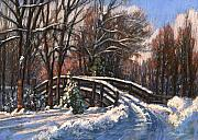 Snow Scene Pastels Metal Prints - The Way Home Metal Print by L Diane Johnson