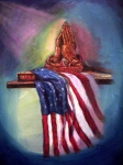 American Flag Painting Originals - The Way It Was by Tommy  Winn