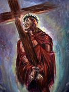 Crucifixtion  Art - The way of the Cross by Tommy  Winn