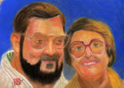 Eyeglasses Pastels Framed Prints - The Way We Were in 75 Framed Print by Arlene  Wright-Correll