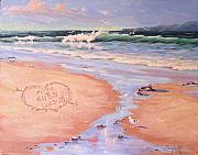 Crashing Surf Paintings - The Wedding Gift by Laura Lee Zanghetti