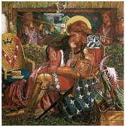Rossetti Metal Prints - The Wedding of St. George and Princess Sabra Metal Print by Dante Gabriel Rossetti
