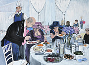 Dinner Paintings - The Wedding by Reb Frost
