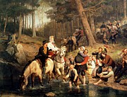 Ford Paintings - The Wedding Trek by Adolphe Tidemand