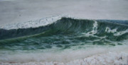 Seascapes Paintings - The Wedge by Robert  Hooper