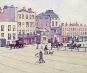 Hansom Cab Posters - The Weigh House - Cumberland Market Poster by Robert Polhill Bevan