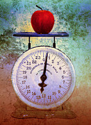 Scale Digital Art - The Weight of an Apple by Tara Turner