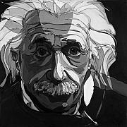 Albert Einstein Framed Prints - The Weight of Genius Framed Print by John Gibbs