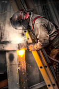 Brenda Bryant Photo Prints - The Welder Print by Brenda Bryant