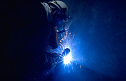 Welder Posters - The welder Poster by Michael Mogensen