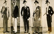 Spats Framed Prints - The Well Dressed Mans Wardrobe In 1929 Framed Print by Everett