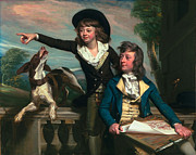 Male Dog Framed Prints - The Western Brothers Framed Print by John Singleton Copley