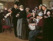 1854 Prints - The Wetnurse Agency Print by Jose Frappa