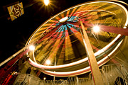 Ferris Wheel Night Photography Framed Prints - The Wheel Framed Print by Glennis Siverson