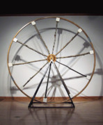 D Sculpture Prints - The Wheel Print by Mihaela Nicolcioiu-Savu