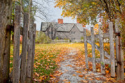 New England Village Prints - The Whipple House Print by Susan Cole Kelly