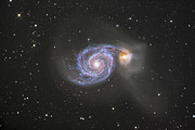 Cosmic Dust Prints - The Whirlpool Galaxy Print by Robert Gendler