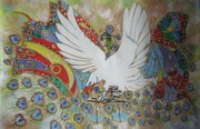 Justice Paintings - The White Eagle by Sima Amid Wewetzer