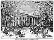 White House Framed Prints - The White House, 1877 Framed Print by Granger