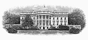 White House Framed Prints - The White House Framed Print by Granger