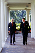 Reagan Framed Prints - The White House, Republican Senator Framed Print by Everett
