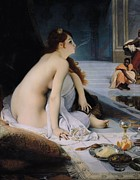 Harem Metal Prints - The White Slave Metal Print by Jean Jules Antoine Lecomte du Nouy
