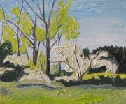 Francois Fournier Paintings - The White Tree Sawyerville Quebec Canada by Francois Fournier