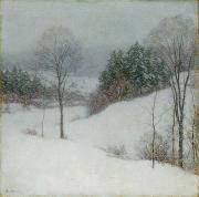 Snow Scenes Metal Prints - The White Veil Metal Print by Willard Leroy Metcalf