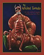 Kitchen Digital Art Framed Prints - The Wicked Tomarto... Framed Print by Will Bullas