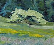Francois Fournier Paintings - The Wide Apple Tree by Francois Fournier